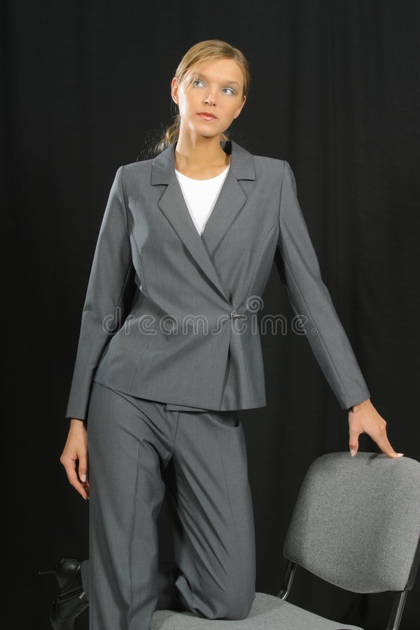 Mulher de negócio de sorriso bonita nova foto de stock