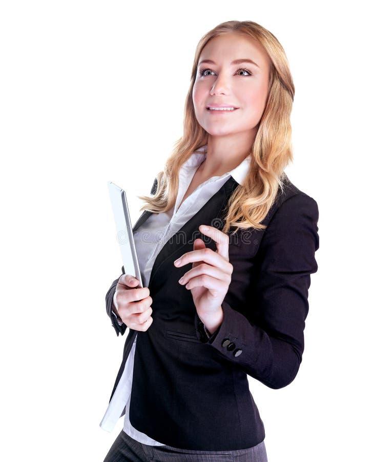 Mulher de negócio de sorriso bonito imagem de stock