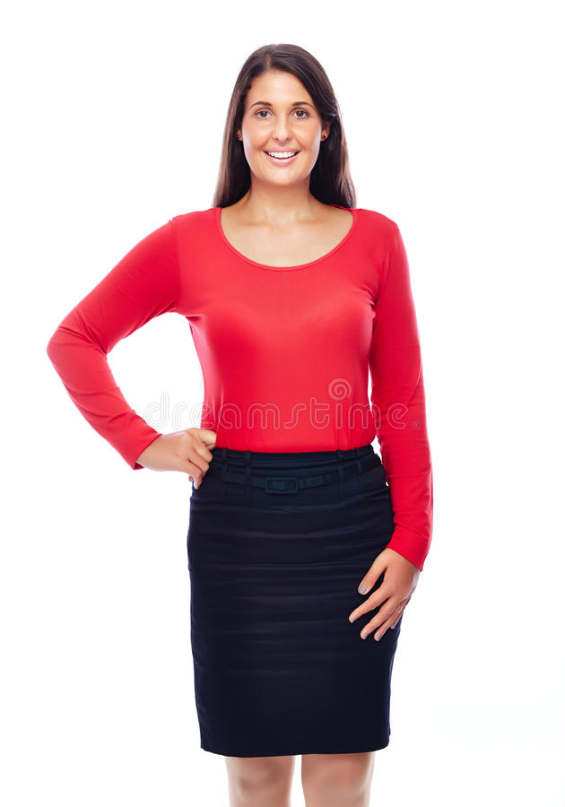Mulher de negócio de sorriso confiável fotos de stock royalty free