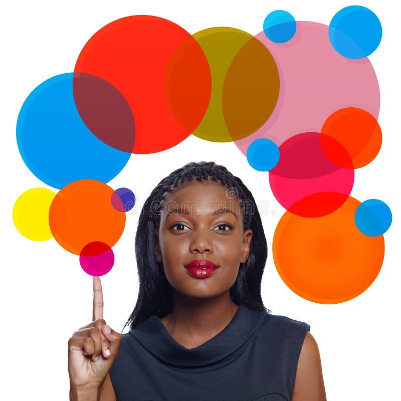 Mulher de negócio do americano africano ilustração royalty free