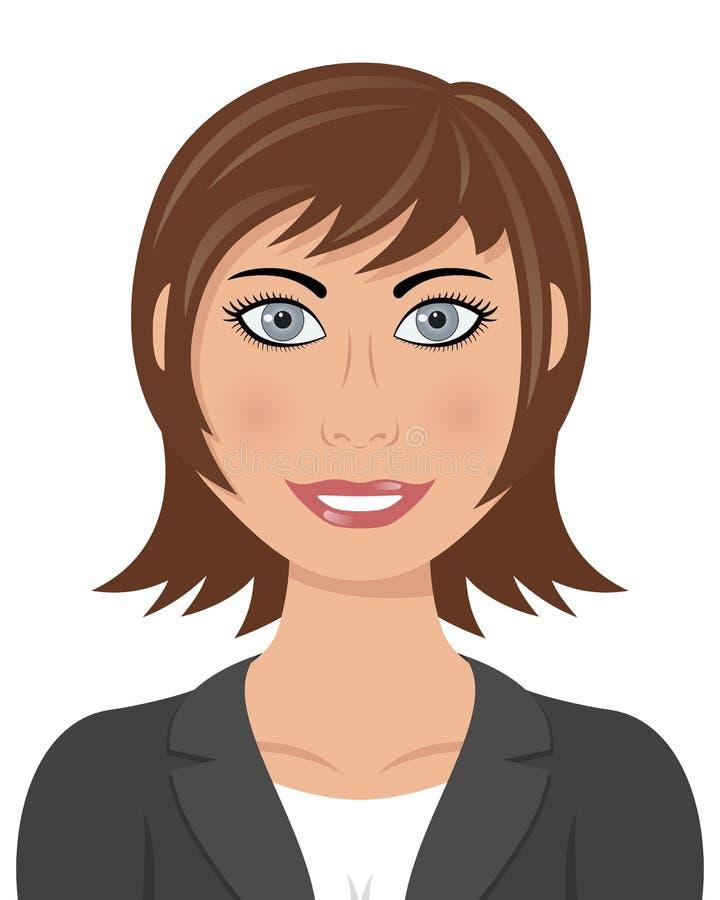 Mulher de negócio do cabelo de Brown ilustração royalty free