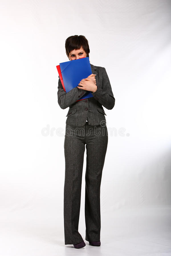 Download Mulher De Negócio Do Smiley Imagem de Stock - Imagem de fêmea, branco: 12803753
