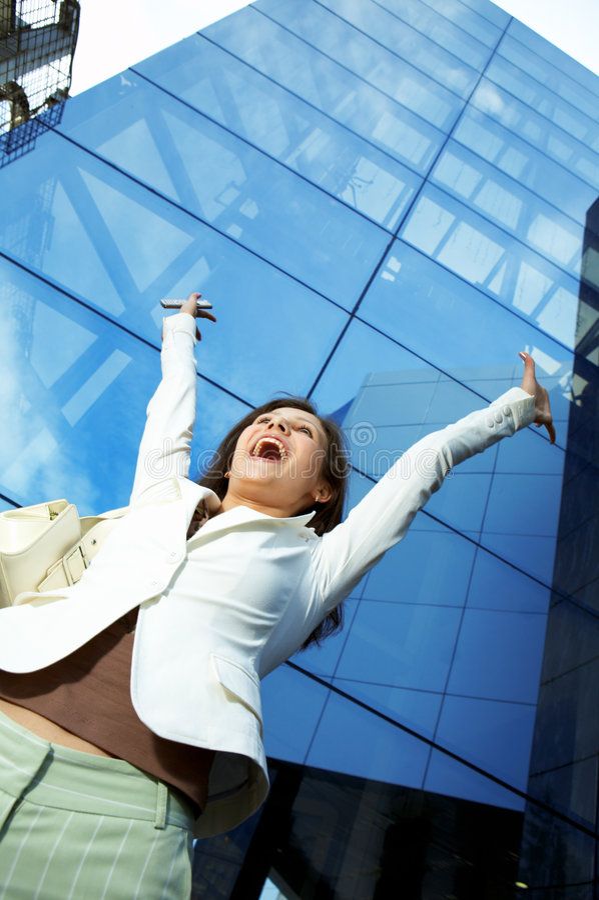 Mulher de negócio do sucesso foto de stock royalty free