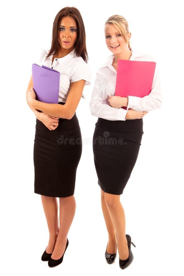 Mulher de negócio dois fotografia de stock royalty free