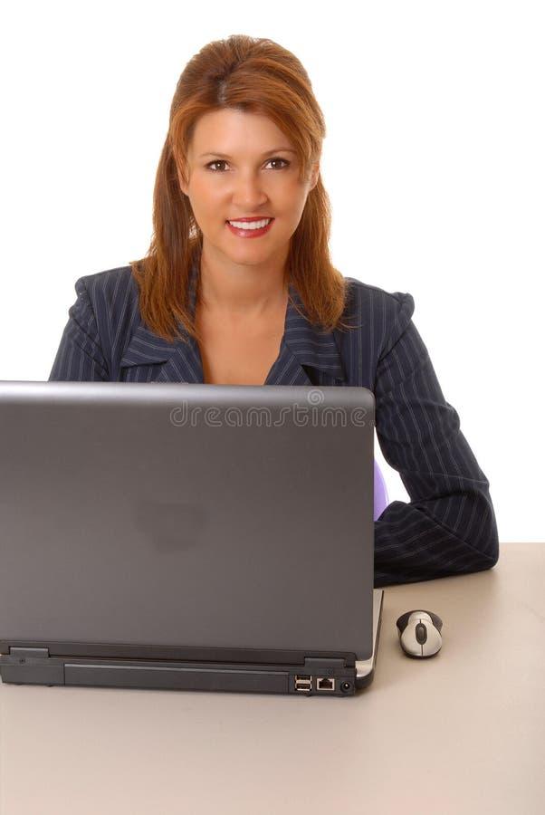 Mulher de negócio encantadora imagens de stock