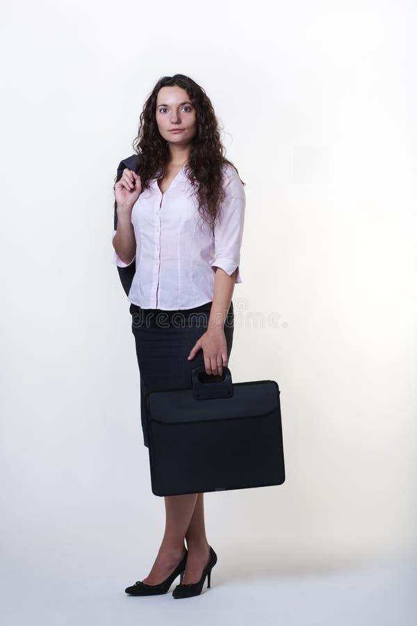 Mulher de negócio ereta fotografia de stock