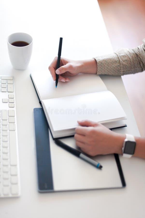A mulher de negócio está tomando notas fotos de stock royalty free