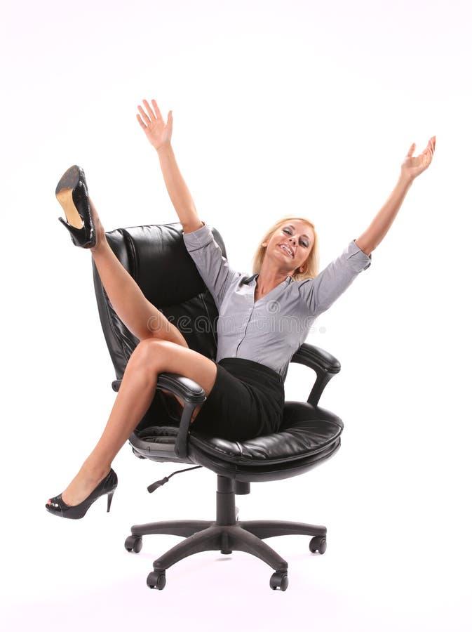 Mulher de negócio Excited fotos de stock royalty free