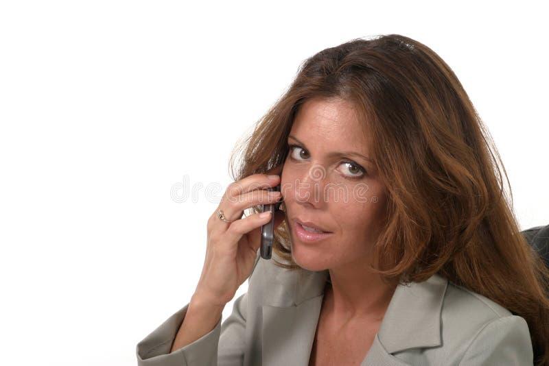 Mulher de negócio executiva com telemóvel 2 foto de stock