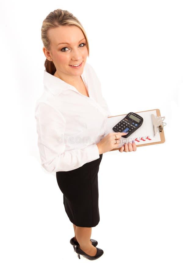 Mulher de negócio a fazer fotografia de stock royalty free