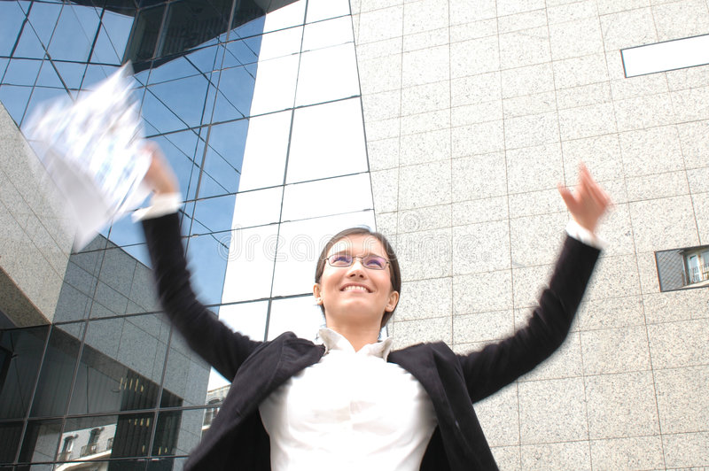 Download Mulher de negócio feliz imagem de stock. Imagem de fate - 111631
