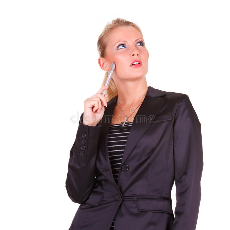 Mulher de negócio feliz nova foto de stock