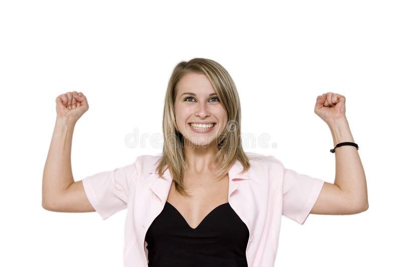 Mulher de negócio forte imagem de stock