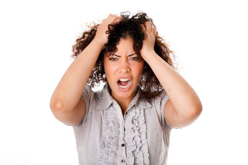 Mulher de negócio frustrante foto de stock