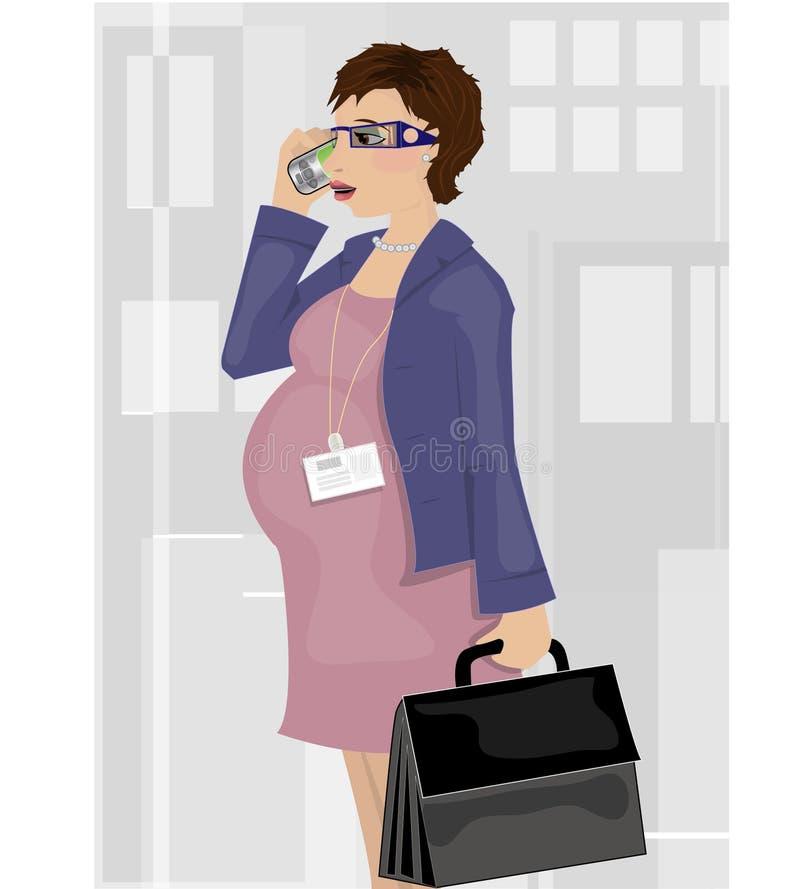 Mulher de negócio grávida fotografia de stock