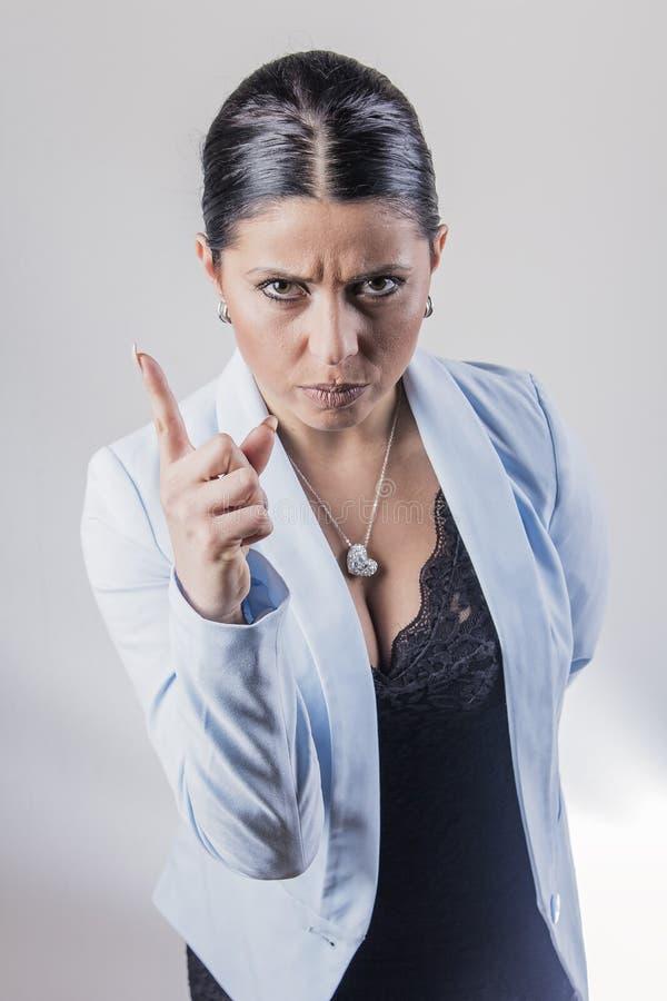 Mulher de negócio irritada fotografia de stock royalty free