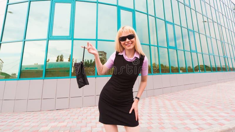 Mulher de negócio loura fotografia de stock