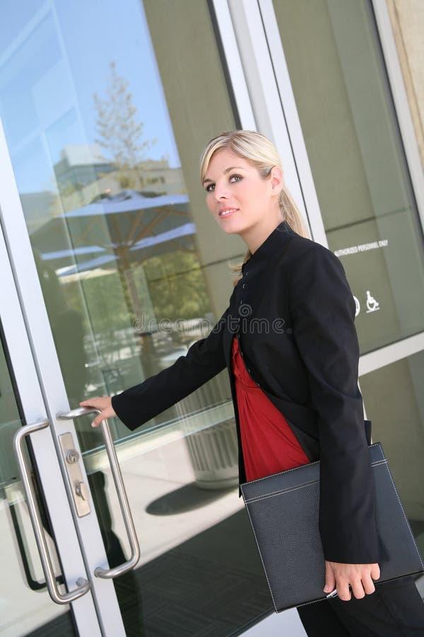 Mulher de negócio loura foto de stock royalty free