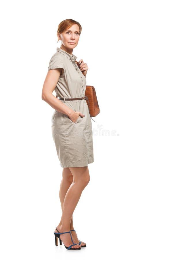 Mulher de negócio maduro feliz fotos de stock
