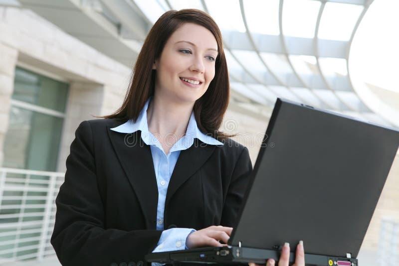 Mulher de negócio na companhia imagens de stock royalty free