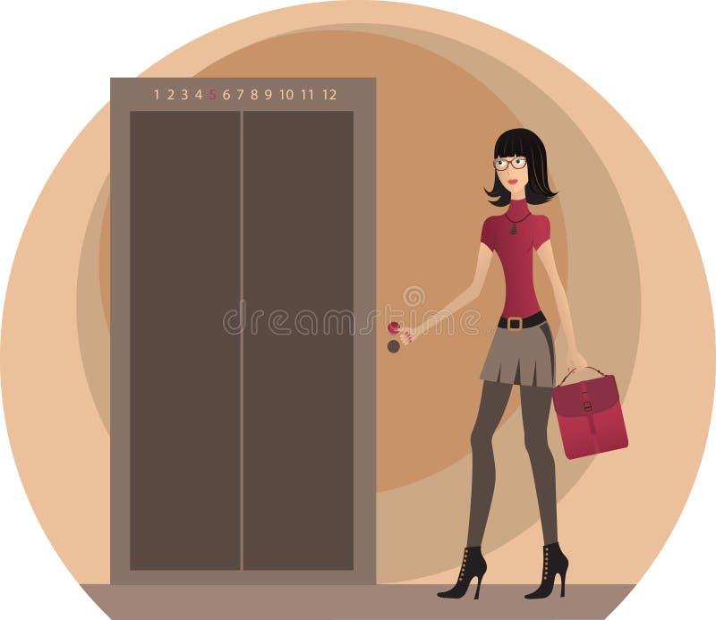 Mulher de negócio no escritório. ilustração royalty free