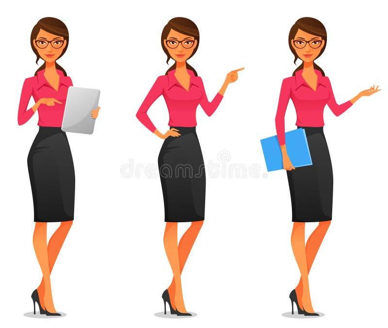 Mulher de negócio nova bonita ilustração do vetor