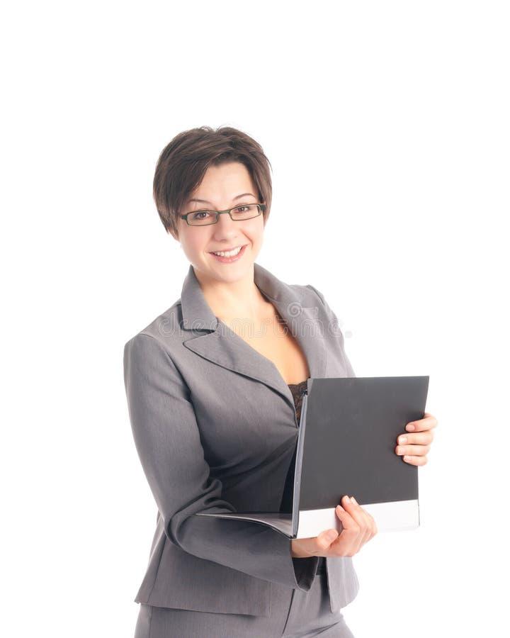 Download Mulher De Negócio Nova Bonita Que Prende Uma Carteira Foto de Stock - Imagem de amigável, executivo: 16856526