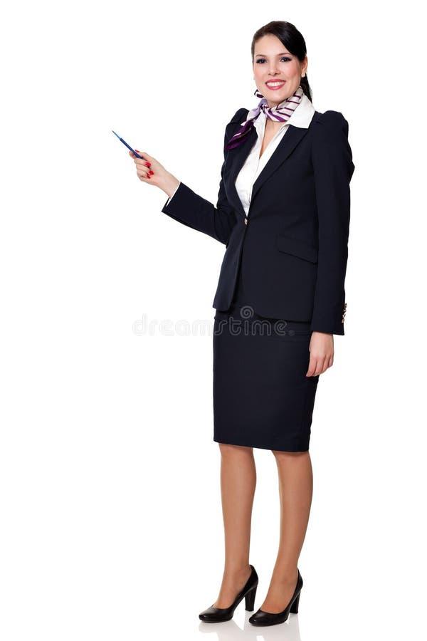 Fullbody de uma mulher de negócio bonita nova fotos de stock royalty free