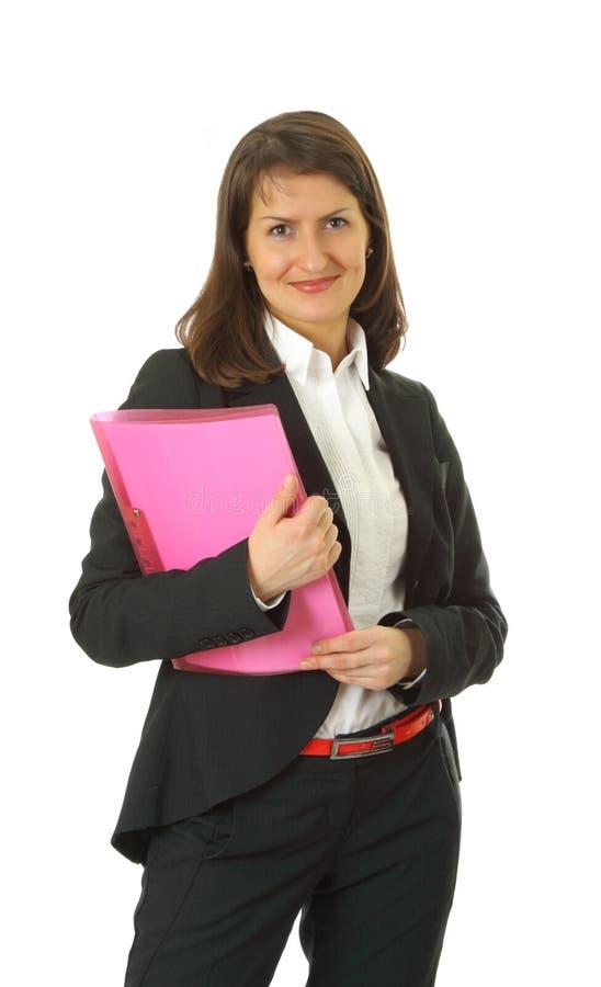 Mulher de negócio nova de sorriso foto de stock