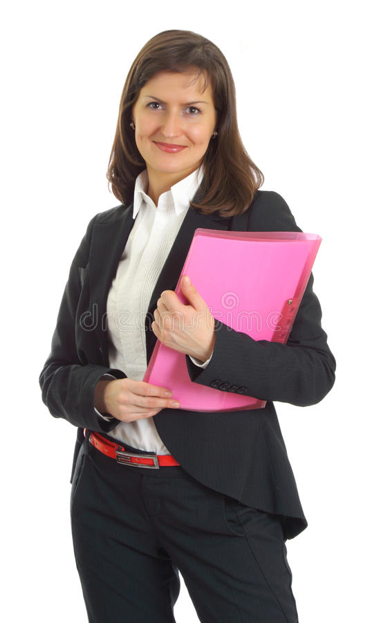 Mulher de negócio nova de sorriso fotos de stock
