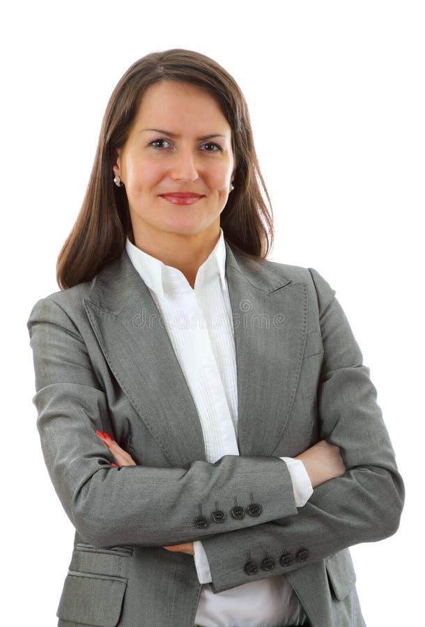 Mulher de negócio nova de sorriso imagens de stock royalty free
