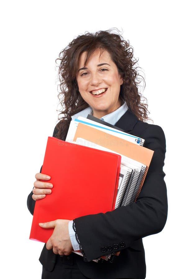 Mulher de negócio ocupada fotografia de stock royalty free
