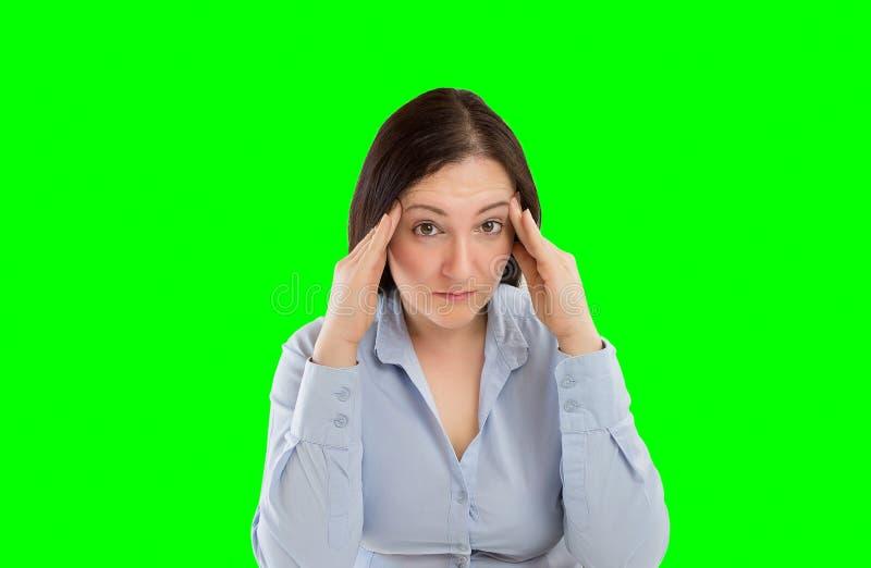 Mulher de negócio Overworked fotografia de stock