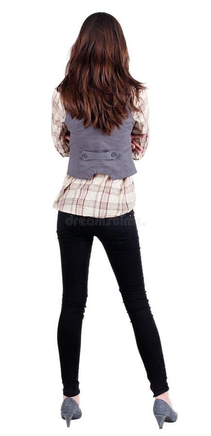 Mulher de negócio. parte traseira. foto de stock