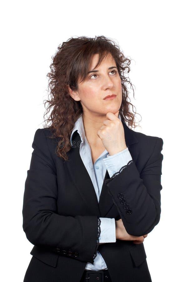 Mulher de negócio preocupada imagens de stock