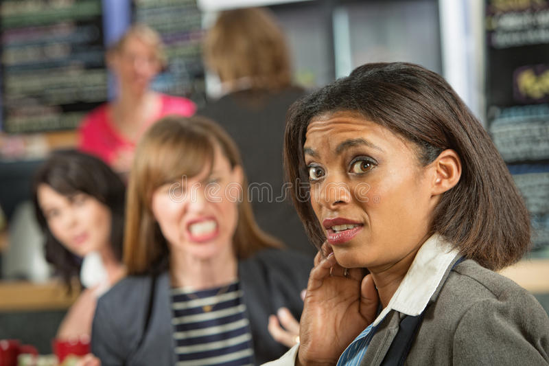 Mulher de negócio preocupada foto de stock