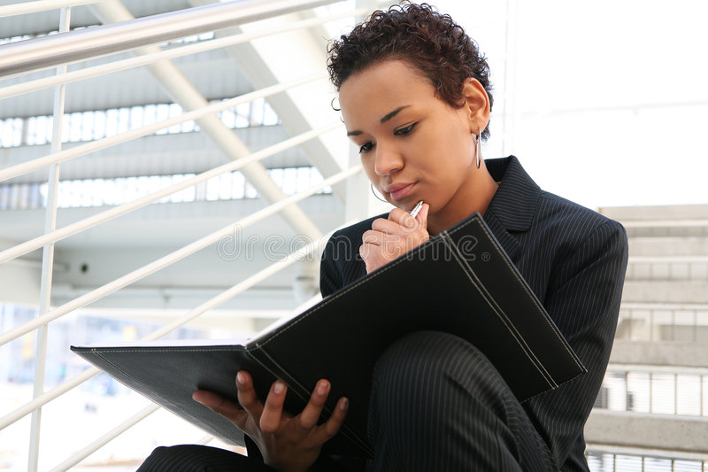 Mulher de negócio preta imagem de stock royalty free