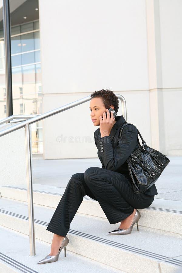 Mulher de negócio preta fotografia de stock royalty free