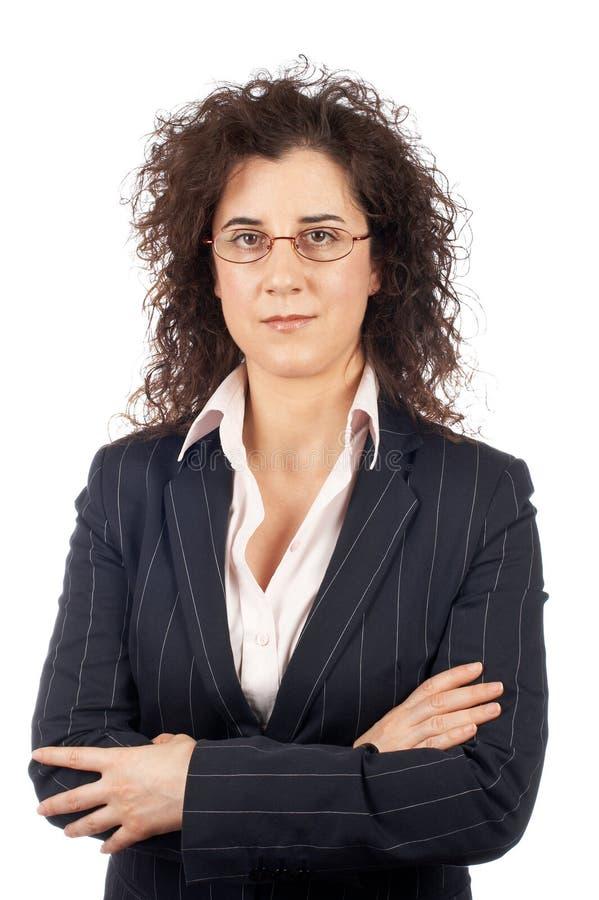 Mulher de negócio séria foto de stock