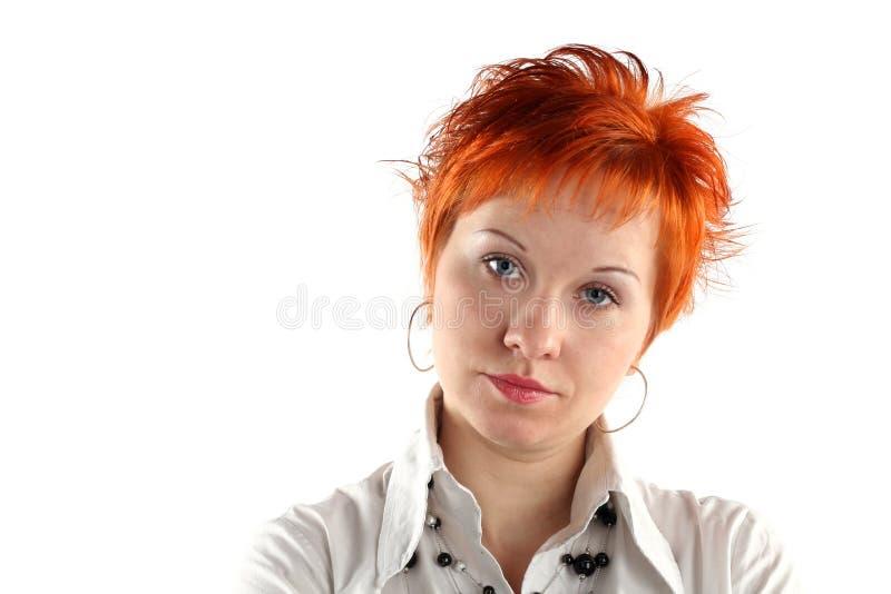 Mulher de negócio séria imagens de stock