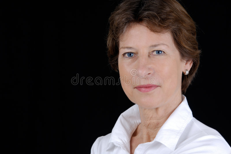 Mulher de negócio sênior foto de stock royalty free