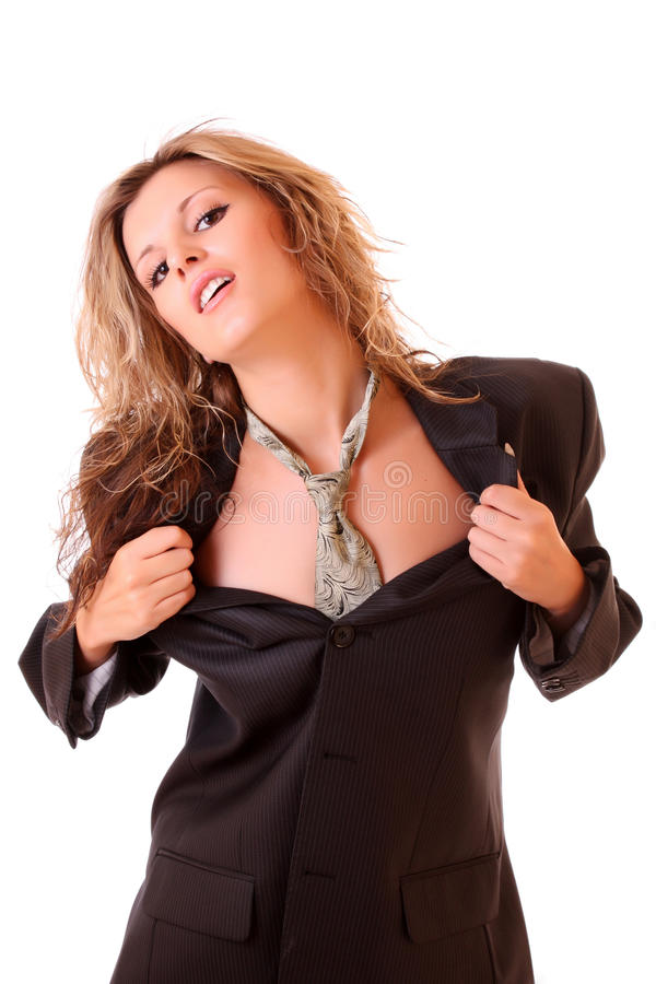 Mulher de negócio 'sexy' fotografia de stock royalty free