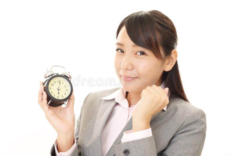 Mulher de negócio de sorriso fotografia de stock