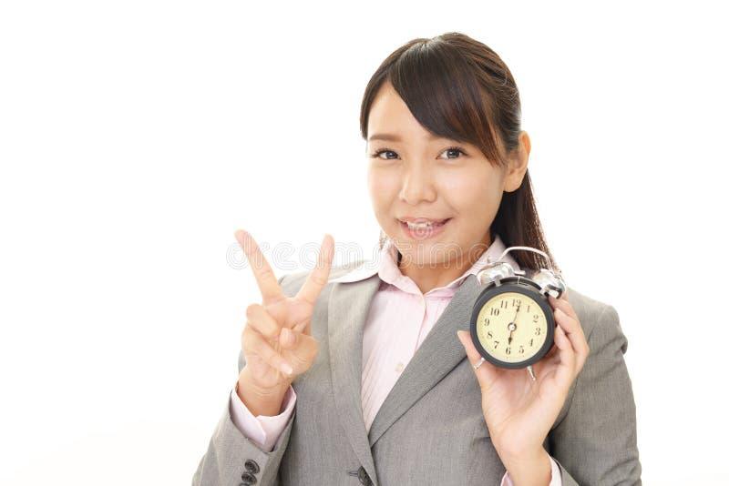 Mulher de negócio de sorriso imagens de stock royalty free