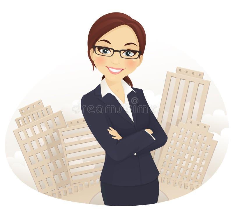 Mulher de negócios ilustração royalty free
