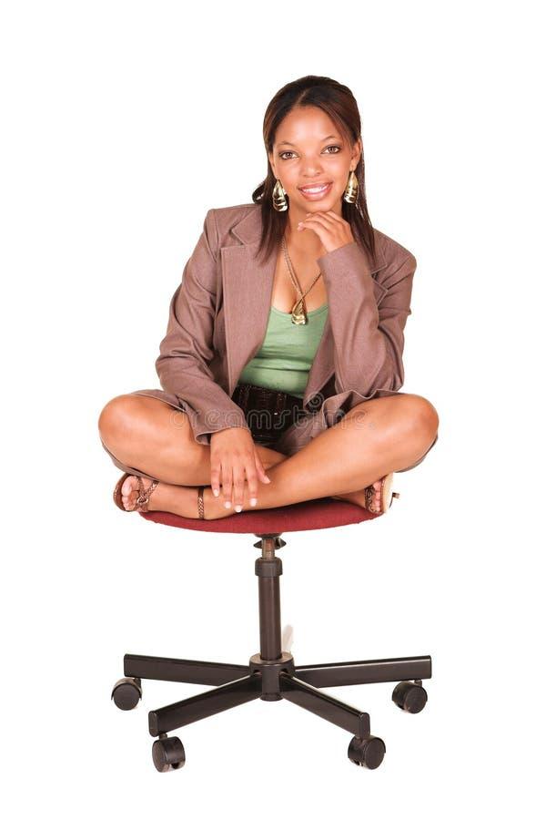 Mulher de negócios africana imagens de stock