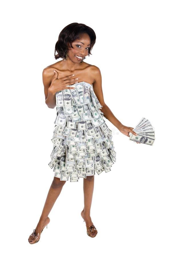 Mulher de negócios africana foto de stock