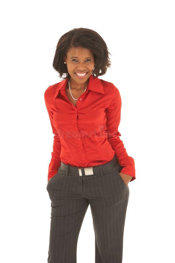 Mulher de negócios africana bonita imagens de stock royalty free