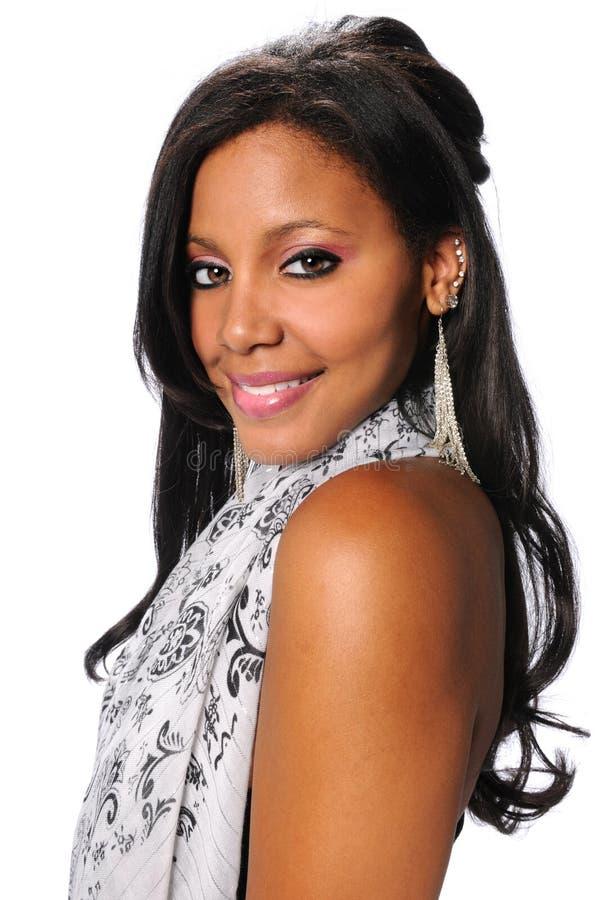 Mulher de negócios afro-americano milenar imagem de stock royalty free