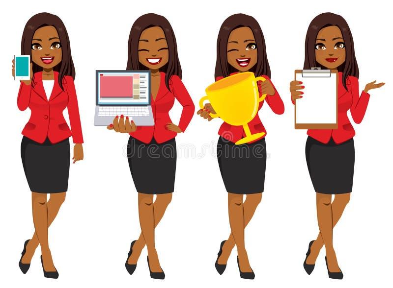 Mulher de negócios afro-americano Set Collection ilustração royalty free